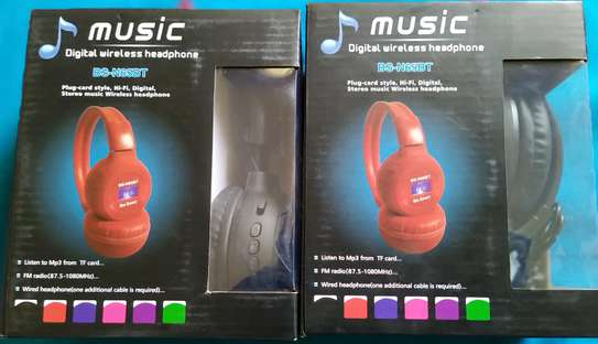 Deep Bass Bluetooth wireless Headphones with Memory card slot, FM Radio and AUXILIARY Port image 5