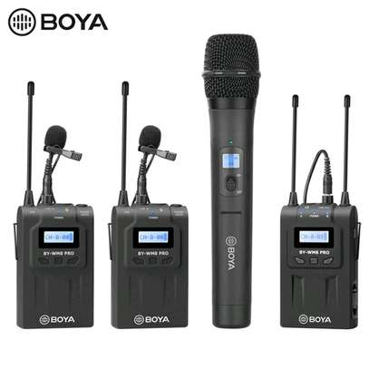 BOYA BY-WHM8 Pro Lavalier and Handheld Microphone UHF Wireless Unidirectional Dynamic Mic image 1
