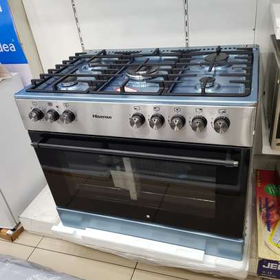 HISENSE 90CM GAS ELECTRIC STAI NLESS STEEL STOVE HFS905GES image 2