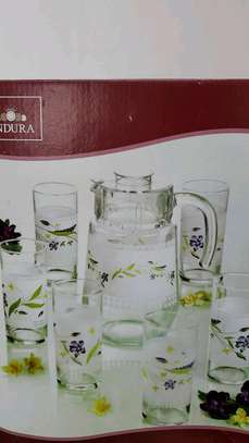 Majestic Jug and Glass Set - 6 pieces. Made in UAE