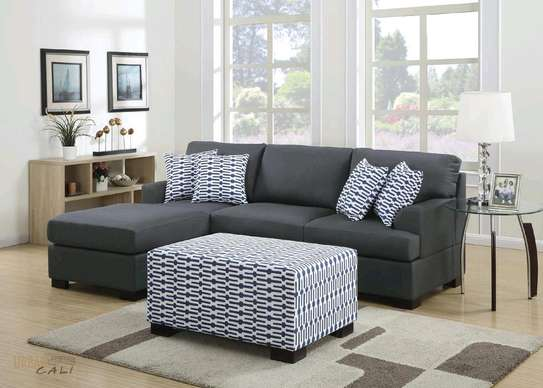 Sofa L with different pillows