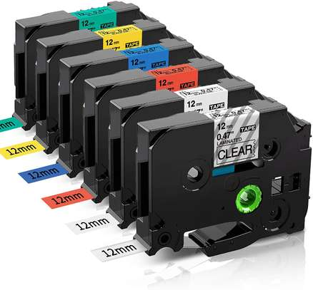 12mm Brother Label printer tapes image 1