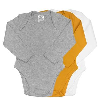 3-Pack Long Sleeve Unisex Bodysuit