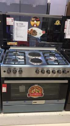 VON HOTPOINT COOKER 90X60 COMBINATION GAS+ELECTRIC image 1