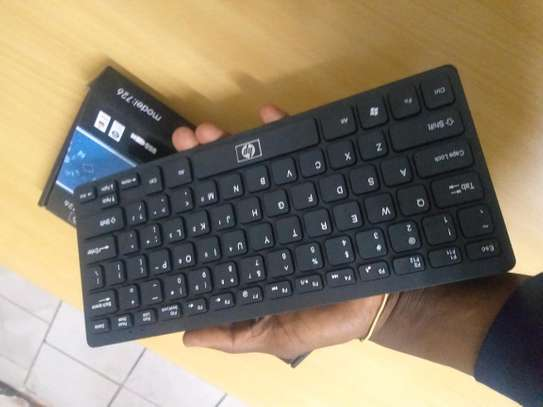 USB keyboard slim and portable fashioned design for laptop pc, desktop and android image 2