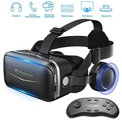 Pansonite Vr Headset 3D Glasses Virtual Reality Headset for VR Games & 3D Movies