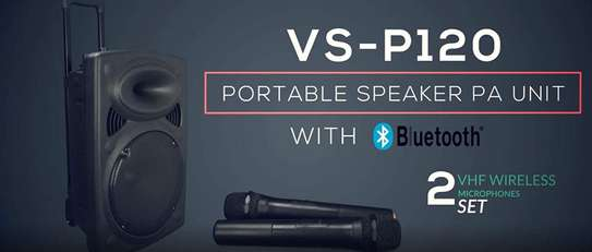 """Portable PA Speaker System, Bluetooth, MP3, 300w 12"""" Woofer & 2 Wireless Microphones image 5"""