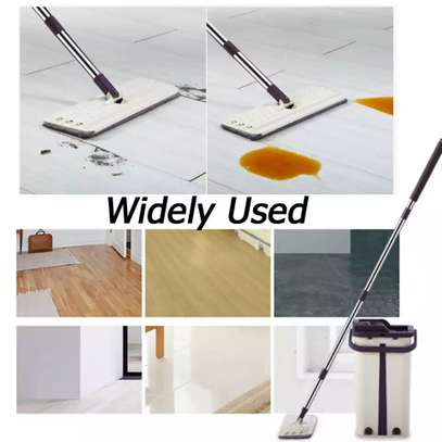 Automatic Squeeze  Scratch Floor Mop with 2PCS rag Cloth for Room,window,ceiling, wall etc. image 3