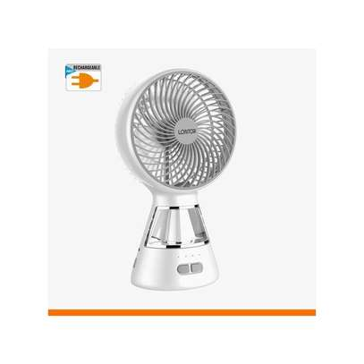 Lontor Mini Table Fan With Lamp (6 Inches) image 1