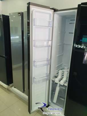Hisense Mirror Finish Side By Side Door No Frost Refrigerator 514L image 2