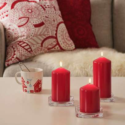 unscented red candles image 2