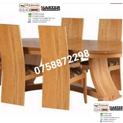 Dining table 6 chair mkongo image 1