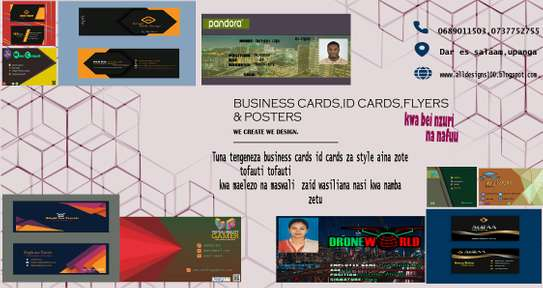 Business id cards poster flyer design