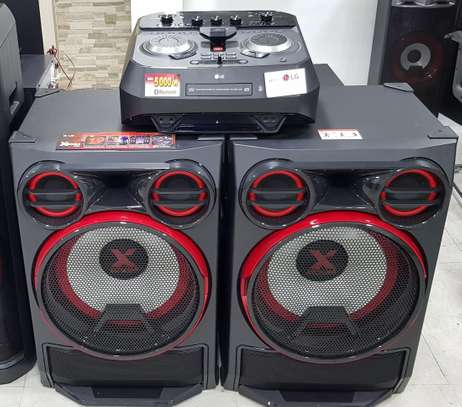 LG  DJ Pro XBOOM 5000W Hi-Fi Entertainment System Powerful Bass with Karaoke Creator Party Accelerator.