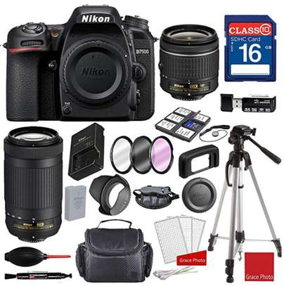 Nikon D7500 DX-Format Digital SLR w/AF-P DX NIKKOR 18-55mm f/3.5-5.6G VR Lens and AF-P DX NIKKOR 70-300mm f/4.5-6.3G ED, Professional Bundle