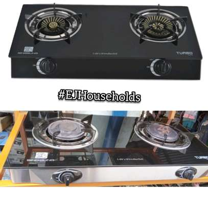 2 Burners Glass Gas Stove image 1