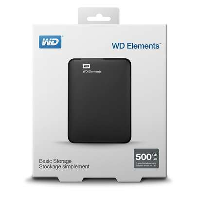 WD Extrenal Hard Drive HDD 500GB USB 3.0