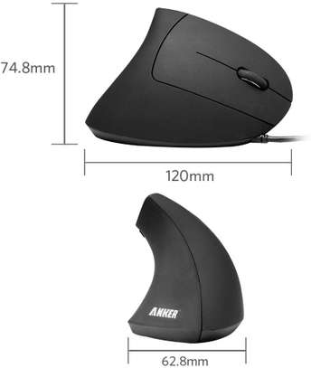 Anker® Ergonomic Optical USB Wired Vertical Mouse image 7