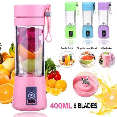 420ML Portable  6-Blade Juicer Electric Rechargeable Smoothie Machine Mixer, Mini Juice Cup Maker Fast  Food Processor