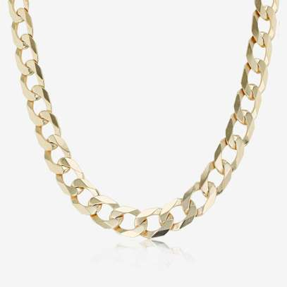 "9ct Yellow Gold 20"" Solid Curb Chain image 1"