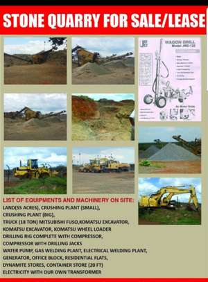 STONE QUARRY FOR SALE IN TANZANIA