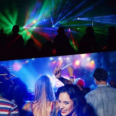 Colorful Disco Lights with remote & music control 4pcs image 9