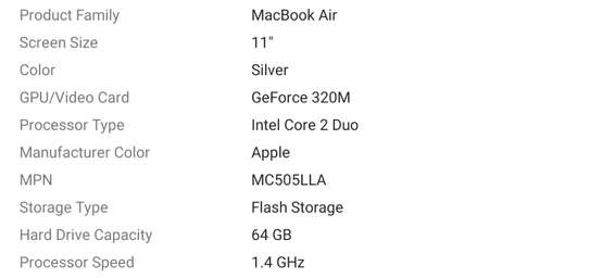 Apple MacBook Air 11.6 in image 4