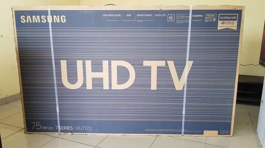 SAMSUNG 75INCH FLAT UHD 4K SERIES7 APPLE AIRPLAY image 1