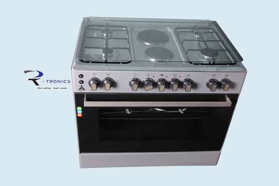 90x60 DELTA free standing cooker (4 GAS+ 2 ELECTRIC) image 1