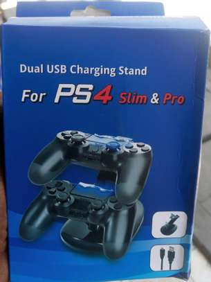 Dual USB  charging Stand PS4 Slim& pro image 1