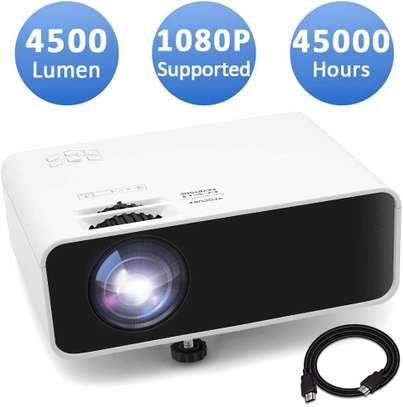Mini Movie Projector, Jimwey 1080P Supported 4500 LUX Portable Video Projector,