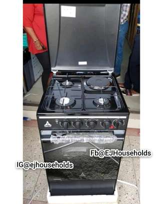 3G + 1E Plate Cookers with Gas Oven. image 1