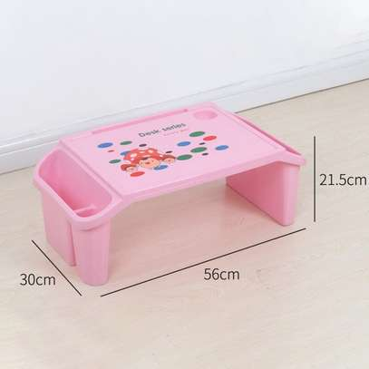 Small Desk on Plastic Bed Writing Desk Children Multifunctional Toy Eating Table image 4