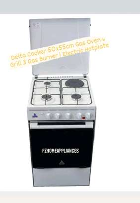 Delta Cookers 50x55cm Gas Oven & Grill 3 Gas Burner 1 Electric Hotplate DGC31B image 2