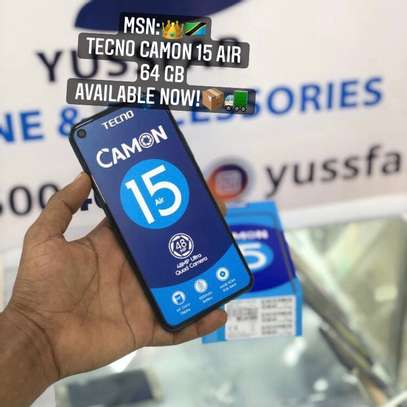 """Tecno CAMON 15 Air GB 64 """"Buy NOW GET FREE COVER !! image 1"""