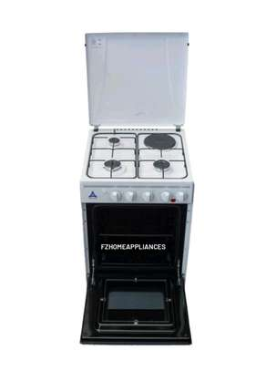Delta Cookers 50x55cm Gas Oven & Grill 3 Gas Burner 1 Electric Hotplate DGC31B image 1