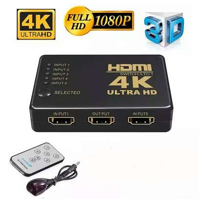4K 1080P 5 Port HDMI Switch Hub Ultra HD Video Switch Switcher UK US EU Video HDMI Splitter With Remote Controller For HDTV DVD