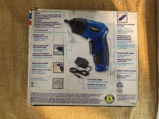 Mastercraft  Pivoting Drill &  Screwdriver two in one- Brand new from Canada direct image 4