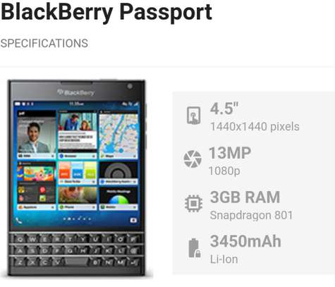 Blackberry passport for sale with accessories image 5