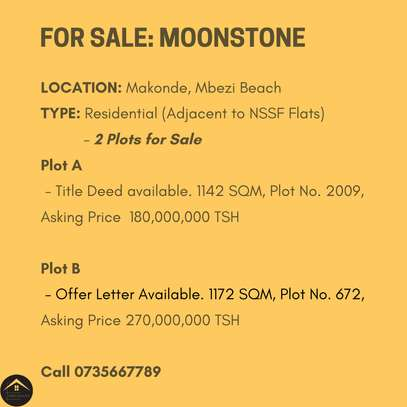 Two Residential Plots for Sale Makonde, Mbezi Beach image 2