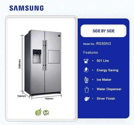 Samsung Side by side 501 L Side-by-side Refrigerator Stainless Steel RS50N3C13S8 image 2