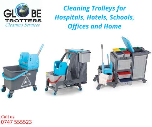 Cleaning Stroller with Mop Bucket