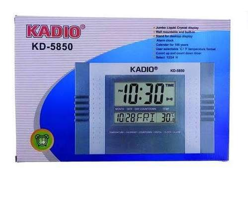 KADIO 5850 DIGITAL WALL AND TABLE CLOCK WITH DAY DATE TEMPERATURE image 2