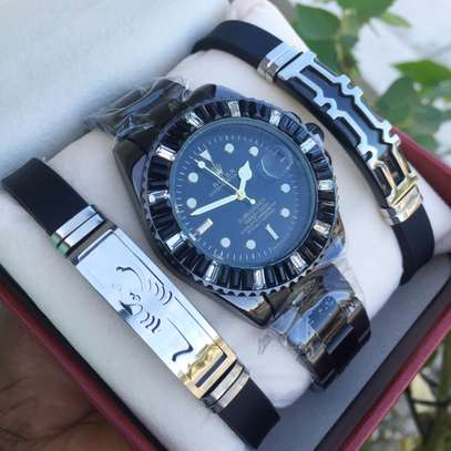 Pack of Bracelets and Watch