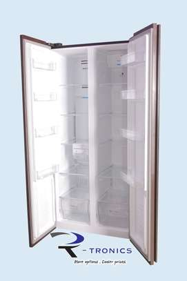 Westpoint Black Doube Door Side By Side Glass Finish Refrigerator 455L – WSNS-5019.ERGB image 3