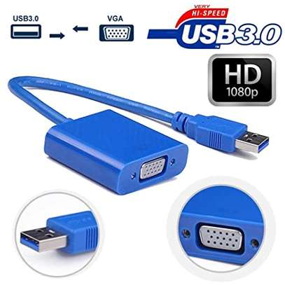 USB 3.0 TO VGA GRAPHIC CONVERTER CARD DISPLAY CABLE ADAPTER 1080P image 1