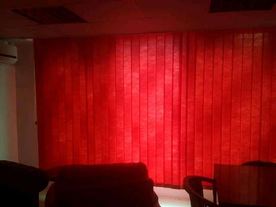 Red Vertical Blinds- Curtains for Office image 1