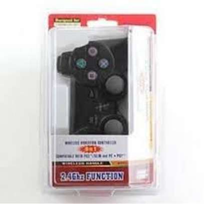 PC / PS2 / PS3 3 IN 1 Wireless Vibration Game Pad image 1