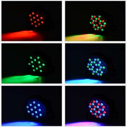 Colorful Disco Lights with remote & music control 4pcs image 5