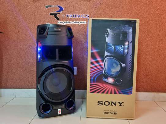 Sony MHC-V43D High Power Party Speaker with Bluetooth Technology image 1